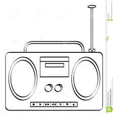boombox outline stock photo image 4928860
