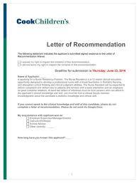 letter of recommendation residency sample