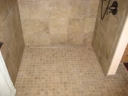 bathroom exciting shower room design with mosaic tile floor and