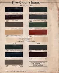 paint chips 1936 ford