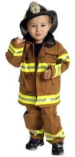 fireman costume jr fighter suit with helmet size 2 3