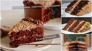 homemade german chocolate cake food planet youtube