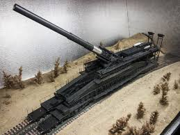 french 75 gun a war train hauled the biggest gun ever made war is boring
