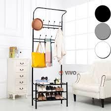 metal coat stand shoe rack hanger handbag umbrella hat wall hooks