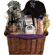 baseball gift basket colorado rockies baseball gift basket rockies fan gift gift