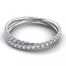 eternity wedding bands 18k white gold eleganza diamond crossover eternity wedding band
