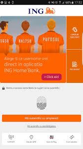 ing homebank are autentificare cu amprenta se activeaza