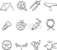 sketch icons bicycle parts vector art thinkstock