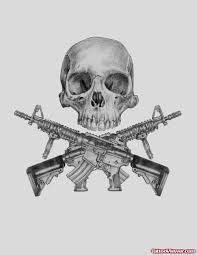 skull and army guns tattoos designs viewer com