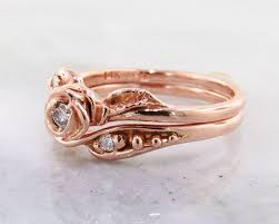 Rose Gold Wedding Ring Sets by Diamond Rose Gold Wedding Ring Set Tea Rose Wexford Jewelers