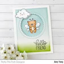 handcrafted cards made with love pretty pink posh hello friend