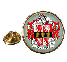 family crests murphy coat of arms pin badge
