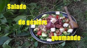cuisiner les gesiers salade de gésiers gourmande cuisine de plein air cooking