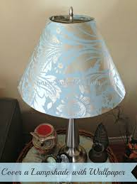 How To Make A Lamp Shade Chandelier Cover A Lampshade With Wallpaper