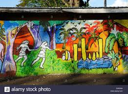 colourful mural papeete tahiti society islands french colourful mural papeete tahiti society islands french polynesia pacific ocean