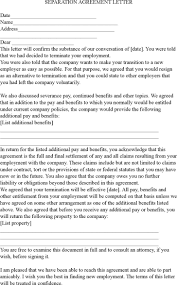 Termination Letter Template Voluntary Employment Termination Letter Contract Termination