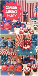 Captain America Decor Captain America Birthday
