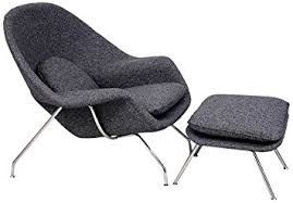 amazon com kardiel womb chair u0026 ottoman carbonite houndstooth