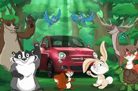 cute cartoon animals get mean in fiat 500 commercial motor trend wot