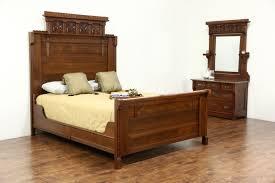 victorian eastlake 1880 u0027s antique walnut u0026 burl 2 pc bedroom set