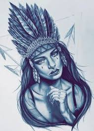 reference sketch of a native american woman i did up for tomorrow