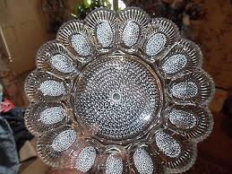 glass deviled egg plate clear glass deviled egg plate 3 99 picclick
