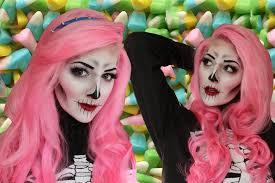 easy diy halloween costumes creepy doll makeup tutorial youtube creepy cute skeleton makeup tutorial for halloween youtube