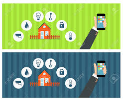 Smart Home Technology by Vector Concept Of Smart House Or Smart Home Technology System