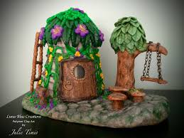 luna blue creations blissful fairy home polymer clay fairy house