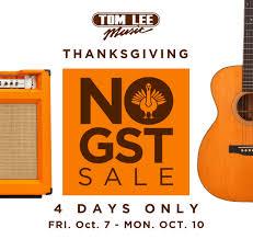 thanksgiving no gst event tom
