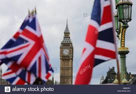 london uk 24th june 2016 british flags in front of the famous