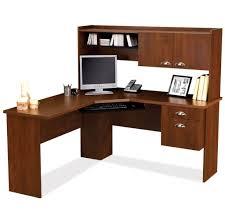 White Corner Computer Desk With Hutch by Furniture Solid Wood Corner Computer Desk Design Corner