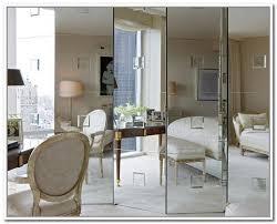 Mirror Bifold Closet Door Interesting Mirror Bifold Closet Doors Home Decorations Spots
