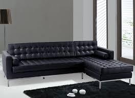 Black Leather Sofa Set Furniture Luxury Sofas Modern Black Leather Sectional Sofa