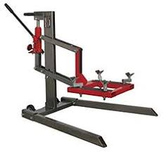 Motorcycle Lift Table by Sealey Tools Mcl500 Single Post Motorcycle Lift 450kg Capacity