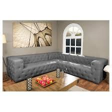 verdicchio linen sectional sofa gray baxton studio target