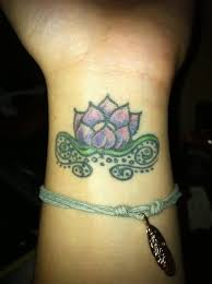 wonderful lotus flower tattoo design idea on wrist golfian com
