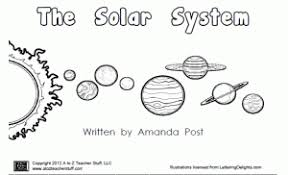printable book about the planets the solar system a to z