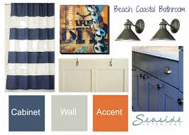 seaside interiors kids coastal bathroom design board