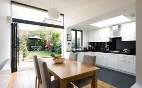 kitchen extension design ideas dining room kitchen extensions ideal home regarding measurements