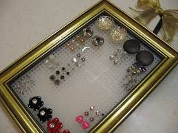 organize stud earrings stud earring organizer how to make a jewelry frame no sew on