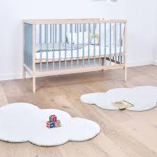 tapis chambre bébé tapis nuage blanc en coton chambre bébé