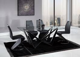 Global Furniture Dining Room Sets D2003dt Dining Table In Black By Global W Optional D9002 Chairs