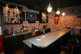 Basement Design Software Amazing Bar For Basement Design Ideas With Exposed Red Brick Wall