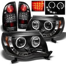 2004 tundra tail light toyota tacoma 2005 2011 black halo projector headlights and led tail