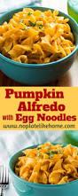 thanksgiving egg noodles pumpkin alfredo with egg noodles recipe