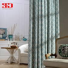 modern geometric lantern linen curtains for living room blind