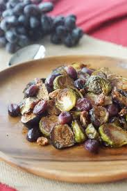 side dishes for thanksgiving vegetable balsamic roasted brussel sprouts with grapes u0026 figs gluten free