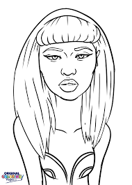mesmerizing nicki minaj coloring pages nicki minaj coloring page