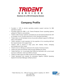 Profile Sample Resume by Company Profile Sample Interestingpage